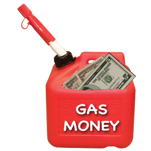 tip-jar gas money