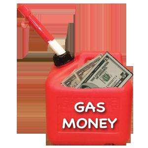 tip-jar gas money